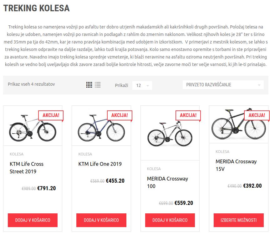 treking kolesa seo optimizacija